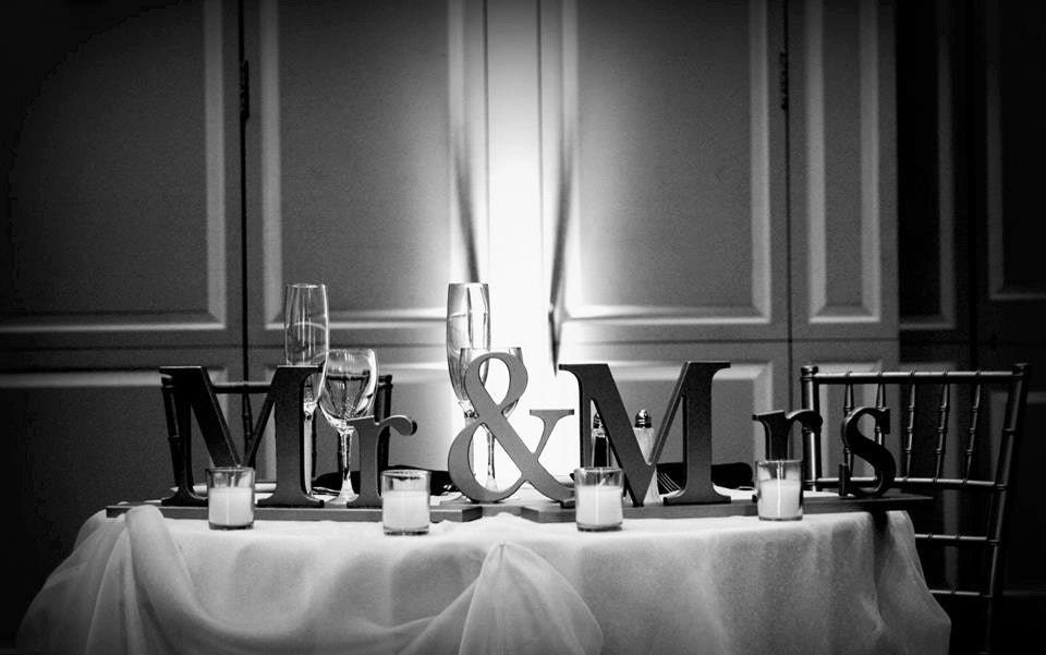 Mr And Mrs Large Wooden Letters: Mr And Mrs Wedding Signs For Sweetheart Table Decor Wedding