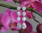 CLEARANCE bridal earrings, wedding earrings, CZ earrings, cubic zirconia earrings, wedding jewelry, bridal jewelry, bridesmaid earrings