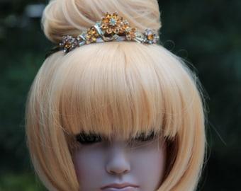 Amber Flower Princess Tiara