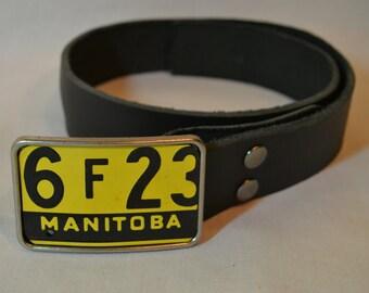 Manitoba  License Plate Belt Buckle