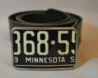 Minnesota  License Plate Belt Buckle