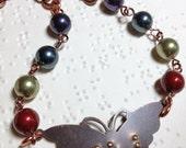 Soar Braille Butterfly Necklace