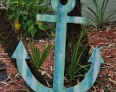 Large Wooden Anchor, Nautical Decor, Beach-y Style, Wall Hanging