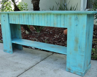 Mudroom Bench, Shoe Storage, Rustic Bench, Country Cottage Decor, Beach House Furniture