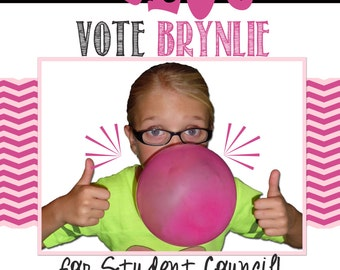Customized Student Council Poster Vote for Me
