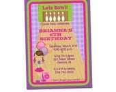 PRINTABLE Girl Bowling Party Invitation #509