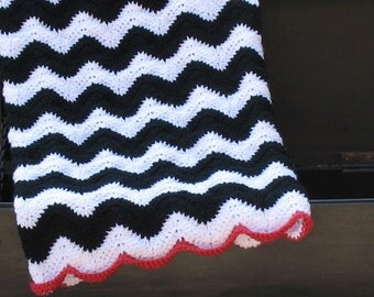 READY TO SHIP Chevron Baby Blanket, Perfect for Baby Showers, Cribs, Carseats, Strollers, Zig-Zag Chevron Nursery Theme