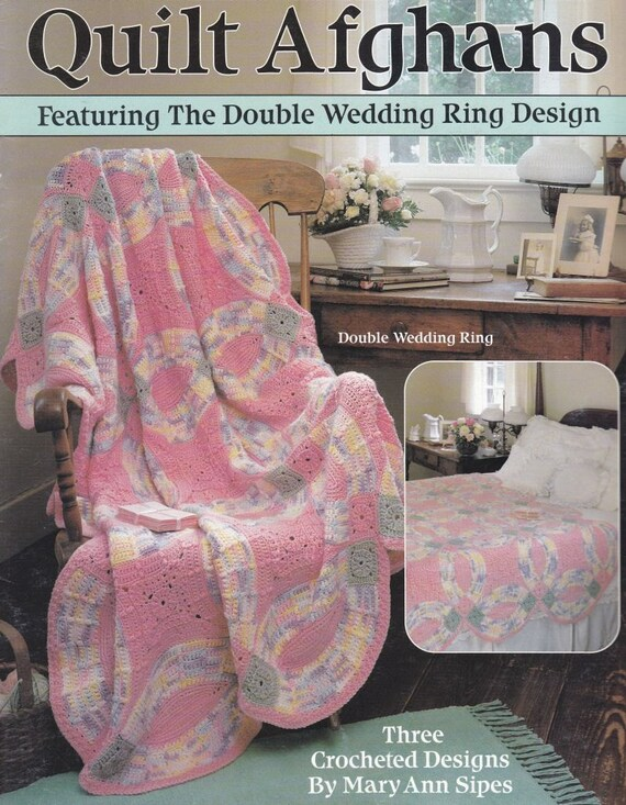 quilt afghans crochet patterns double wedding by paperbuttercup. Black Bedroom Furniture Sets. Home Design Ideas