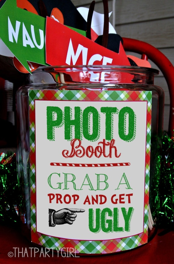Ugly Sweater Ideas For Christmas Parties Part - 44: Ugly Sweater Party Photo Booth Sign - DIY INSTANT DOWNLOAD