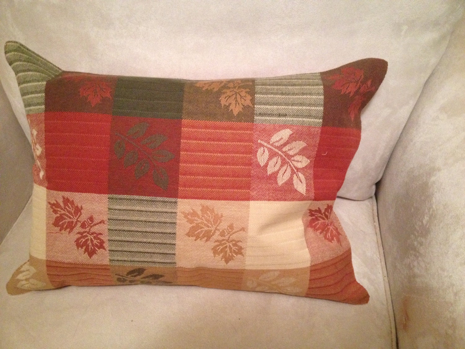 Fall Throw Pillow Ideas : AUTUMN LEAVES SQUARES Fall Accent Pillow Designs in shades