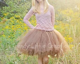 Adult Tutu  - Brown Tutu - Fall tutu - Woman tutu -  Ladies Tutu  SEWN tutu Teen Tutu  tutu skirt - tulle skirt - Fall Skirt