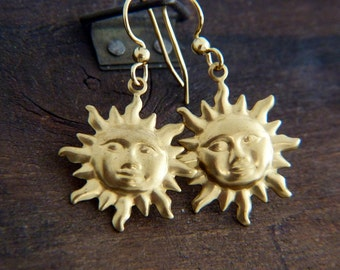 Bohemian Sun Earrings - Dangle Earrings - Mystic Bohemian Earrings - Gypsy Earrings - Boho Jewelry