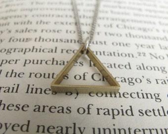 Triangle Necklace // geometric necklace // triangle Jewelry // geometric Jewelry // Boyfriend Girlfriend // geometric //