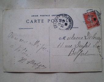 Ballon d'Alsace - 1910 - Antique French Postcard - Au Bas de la Goutte des Forges