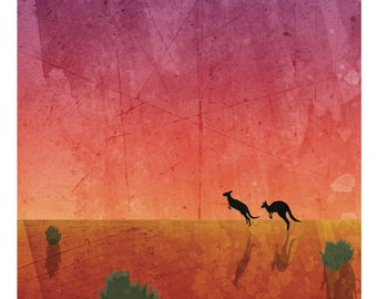 "Nature Poster: Desert, 12 x 24"""