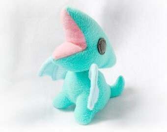 Teal and Blue Pterodactyl Plush