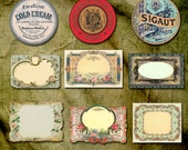 Victorian Labels Collage Sheet, Ornate Labels, Instant Download, French Labels, Printable Labels