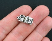 4 Army Jeep Charms Antique Silver Tone 3D - SC3462