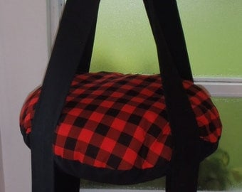 Cat Bed Black & Red Plaid Cat Bed Double Kitty Cloud Hanging Cat Bed, Pet Furniture, PetGift