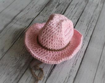 Pink Cowgirl Hat -Baby Cowboy Hat - Baby Girl Hat -Western Hat -Versatile Baby Hat - Western Girls Hat -by JoJosBootique