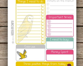 Daily Planner printable printable planner pages to do list