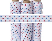 Patriotic Dots - Fold Over Elastic - 5 YARDS Wholesale