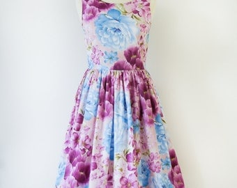 "Sale - Vintage Inspired Dress, Lilac Dress, bust size 34"" , Sale"