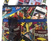 Marvel Crossbody Bag // Sling Bag // Comic Book Crossbody Purse