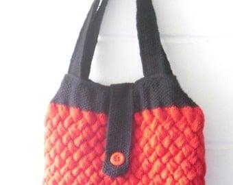 Knitting Pattern, Woven Cable Bag, Bag Knitting Pattern