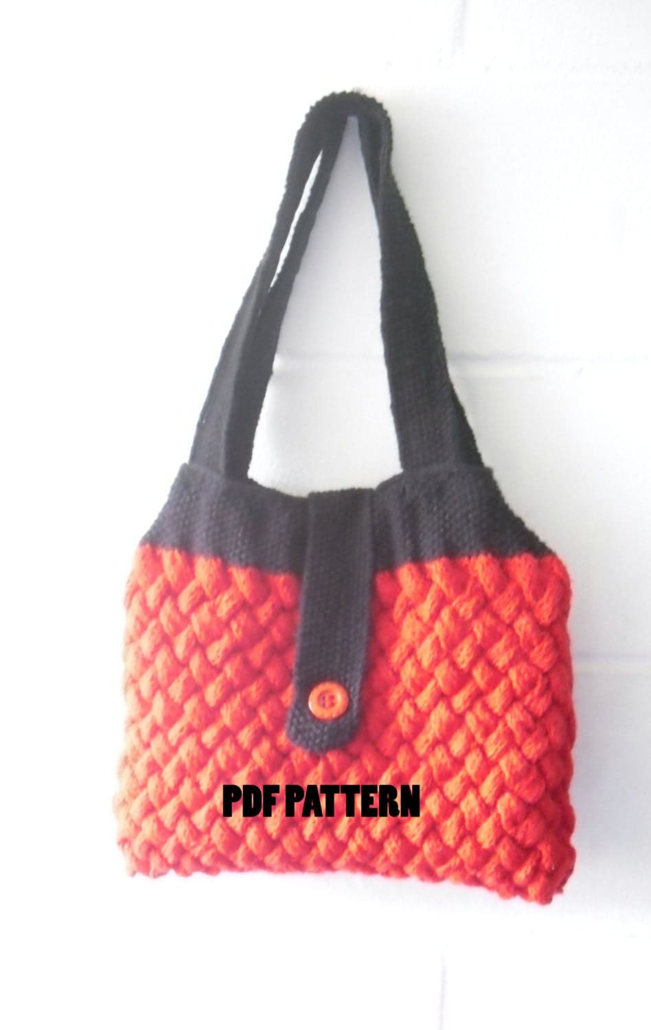 Knitting Pattern Cable Bag : Knitting Pattern Woven Cable Bag Bag Knitting Pattern