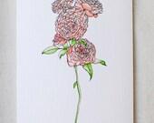 Garden Rose- Blank Card