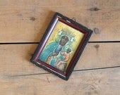 Vintage Mother Mary Religious Iconography Framed Print