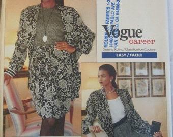 Vogue Career 2435 Anne Klein II Womens Petite Jacket & Skirt Pattern Bust 34 36 38