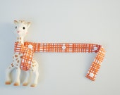 Sophie Saver - Woven in orange with white snaps