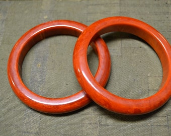 1950s Bakelite Bangles, Set of 2