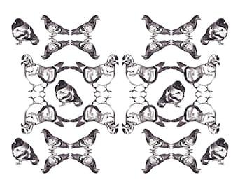 Pigeon Pattern // Art Print