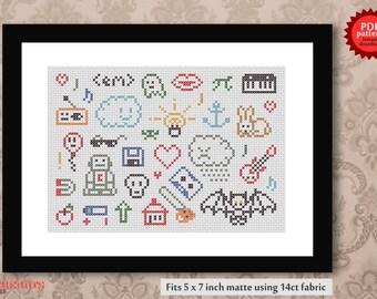 All sorts -  PDF cross stitch pattern