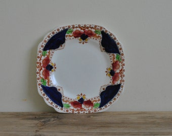 Vintage china Royal Vale small plate - Hand painted - Floral