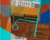 Open Buildings, mixed-media/acrylic on canvas, map art