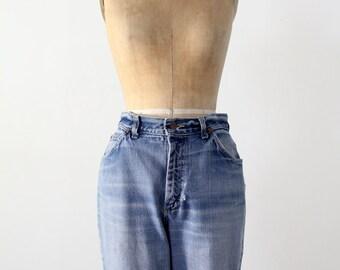 1970s high waist Lee jeans, vintage blue jeans, waist 30