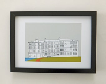 Glasgow Print, art print, home decor, wall art, Scottish art, Picture of Glasgow, Scotland