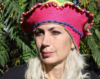 Mega Colourful Crochet Hat...