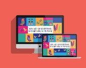 Computer Wallpaper Motivational Quote Colourful Illustration