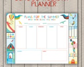 Summer Holiday Planner Printable Kids School Vacation Activity Organiser