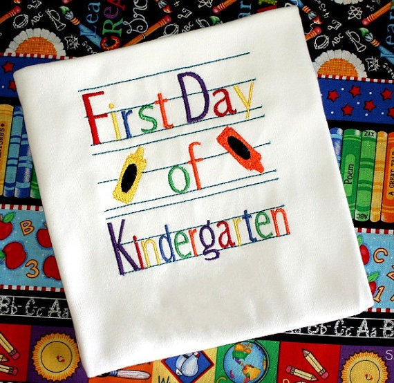 First Day Of Kindergarten Shirt - Kindergarten Dress, Back To School ...