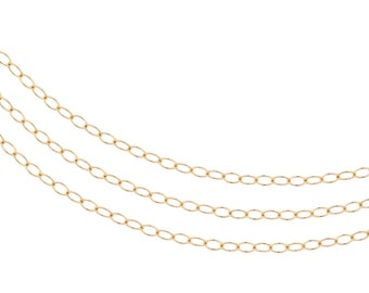 14Kt Gold Filled 2x1.5mm Cable chain - 100ft Wholesale price (2356-100)/1