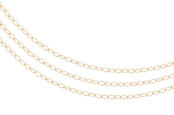 14Kt Gold Filled 2x1.5mm Cable chain - 100ft (2356-100)  Wholesale price