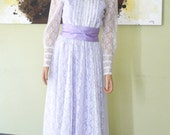In Fields of Lavender Bohemian Lace and Lavender  Dress Wedding Dress