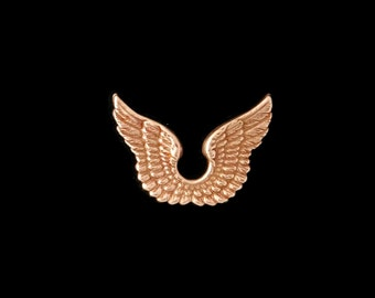 Copper Rose Gold Brass Stamping Joined Small Angel Wings Qty 1 Heirloom Quality for Jewelry Making Made in the USA Dr Brassy Steampunk