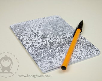 A6 Circle Pattern Notebook